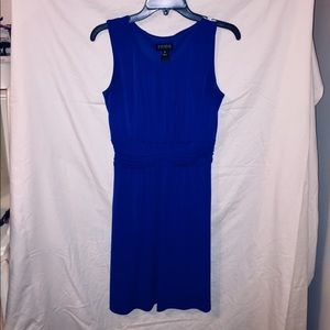 Blue Knee Length Dress.